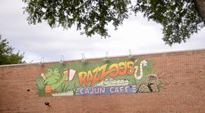 Razzoos Cajun restaurang, Fort Worth, Texas arkivbild