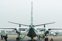 An-24rb at the airport. Stock Photo