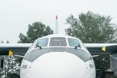 An-24rb at the airport. Stock Photos