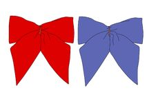 RB Bows. Red and Blue Bows Stock Image