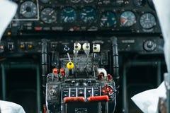 An-24rb przy lotniskiem Zdjęcie Royalty Free