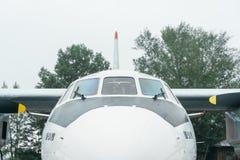 An-24rb przy lotniskiem Zdjęcia Stock