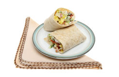 Bread wraps on a plate Royalty Free Stock Photo