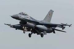 RBAF F-16 coming in for landing at Frisian Flag royalty free stock images