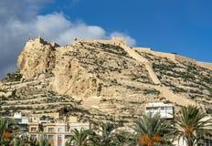 Rbara van Castillo DE Santa BÃ ¡, Alicante royalty-vrije stock afbeeldingen
