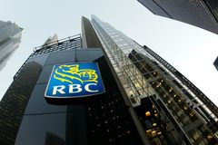 RBC bank. Royal Bank Canadian headquarters in downtown Toronto,Ontario,Canada Stock Photos
