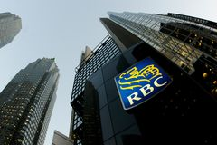 RBC bank. Royal Bank Canadian headquarters in downtown Toronto,Ontario,Canada Stock Photography