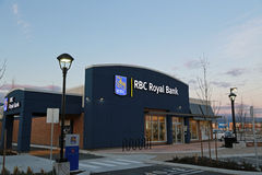 Royal Bank of Canada Sign. A RBC (Royal Bank of Canada) sign in Vancouver Photo taken on: March 08th, 2013 stock photo