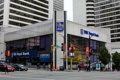 RBC Royal Bank, Vancouver, BC royalty-vrije stock afbeeldingen