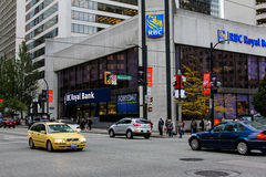 RBC Royal Bank, Vancouver, F. KR. Royaltyfria Foton