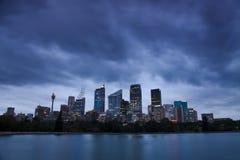 RBG City Dusk Clouds Stock Images