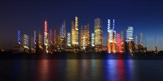 RBG City Mirage Blur Royalty Free Stock Photos