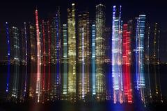 RBG City Palette Blur Royalty Free Stock Photos