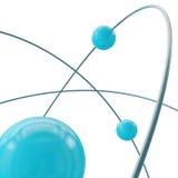 Órbita del átomo. Visión cercana. Imagen de archivo libre de regalías