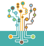 Árbol abstracto de la placa de circuito  Imágenes de archivo libres de regalías