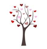 Árbol con los corazones Fotografía de archivo