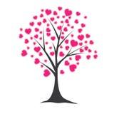 Árbol con los corazones. Ilustración del vector Fotos de archivo