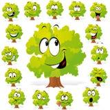 Árbol con muchas expresiones Imágenes de archivo libres de regalías