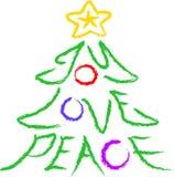 Árbol de la Alegría-Amor-Paz Foto de archivo libre de regalías