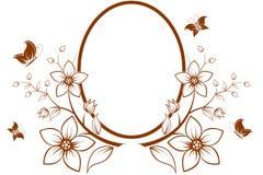 Árbol de la flor con el marco Imagen de archivo