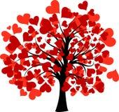 Árbol de las tarjetas del día de San Valentín,   Imagenes de archivo
