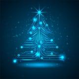 ?rbol de navidad abstracto de la tecnolog?a. Fotos de archivo