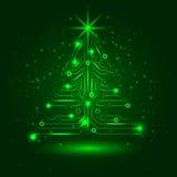 ?rbol de navidad abstracto de la tecnolog?a. Imagenes de archivo