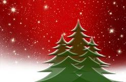 Árbol de navidad, con la estrella, fondo Imagen de archivo libre de regalías