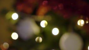 ?rbol de navidad con las luces metrajes