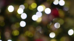 ?rbol de navidad con las luces almacen de metraje de vídeo