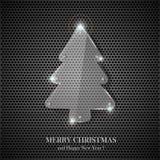 ?rbol de navidad de cristal Imagen de archivo libre de regalías