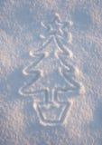 Árbol de Navidad de la nieve Imagen de archivo
