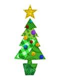 Árbol de navidad de la tela Imagenes de archivo
