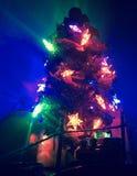 Árbol de navidad de las estrellas Imagenes de archivo