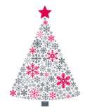 Árbol de navidad de los copos de nieve Foto de archivo libre de regalías