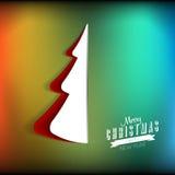 Árbol de navidad de papel creativo Ejemplo del vector, carte cadeaux Imágenes de archivo libres de regalías