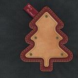 Árbol de navidad del dril de algodón Foto de archivo libre de regalías
