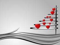 Árbol de navidad en amor Fotografía de archivo
