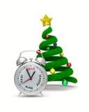 Árbol de navidad en blanco Imágenes de archivo libres de regalías