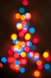 Árbol de navidad hecho de luces coloreadas Imagen de archivo