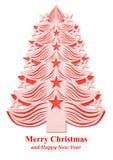 Árbol de navidad hecho del papel - rojo Imagen de archivo