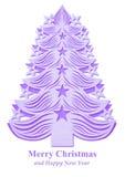 Árbol de navidad hecho del papel - violeta Fotos de archivo