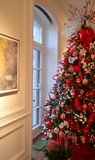 Árbol de navidad rojo y verde Imagen de archivo