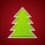 Árbol de papel de Navidad Fotografía de archivo libre de regalías