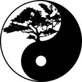 ?rbol de Yin yang imagen de archivo
