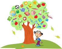 Árbol del conocimiento Imagen de archivo libre de regalías