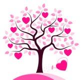 Árbol del corazón Imagen de archivo libre de regalías
