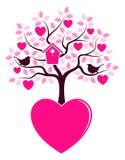 Árbol del corazón que crece de corazón Fotos de archivo libres de regalías