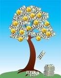 Árbol del dinero Fotos de archivo