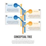 Árbol Infographic del concepto Imagenes de archivo